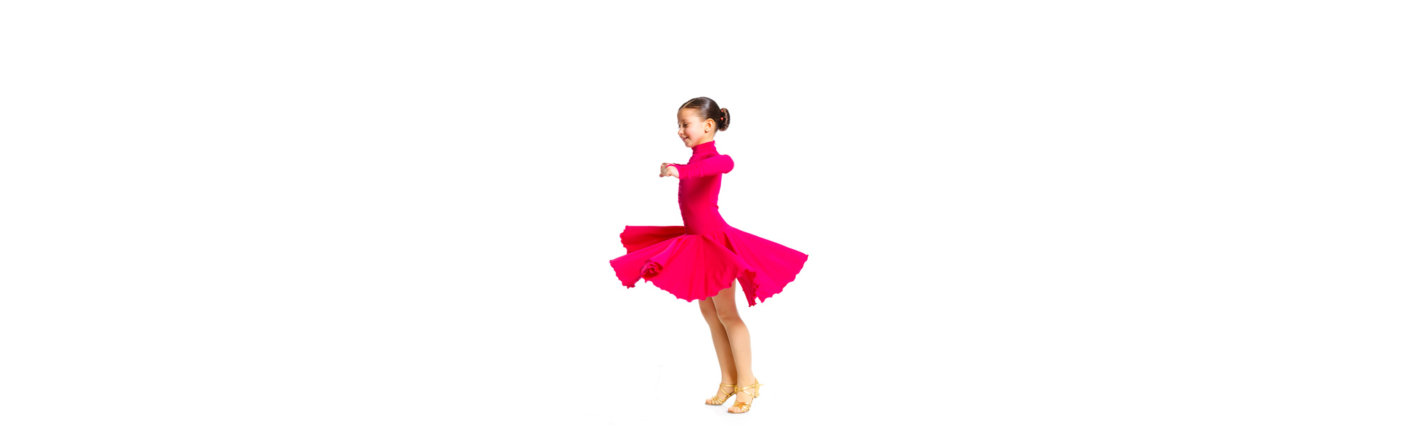Girl Pink Dress Twirl – General